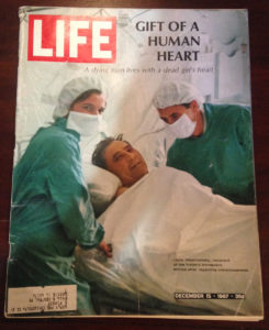 LIFE Magazine with a front cover story about the first heart transplant