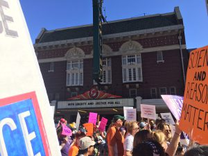 March against Trump in Austin Theater Involved