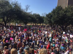 March against Trump in Austin 1/21/2017 Crowd