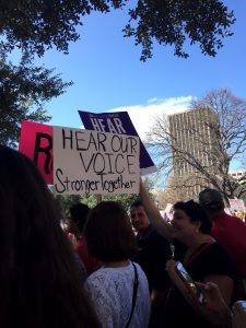 March against Trump in Austin men and women