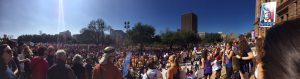 March against Trump in Austin panorama
