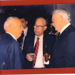 Jack Lindsey (center) with Tommy Lasorda (left) and Dick Williams (right).