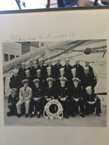 Thomas Russell with his crew (back row 3rd from far left)