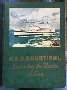 The book about Thomas Russell's hospital ship, the U.S.S. Bountiful
