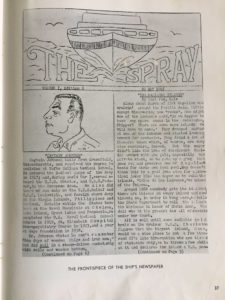 An example of the newspaper created on and for the ship