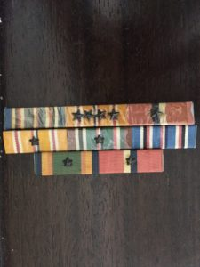 Thomas Russell's medals for taking different islands during World War II