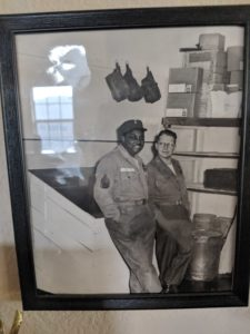 Dana Carroll and a friend during World War II