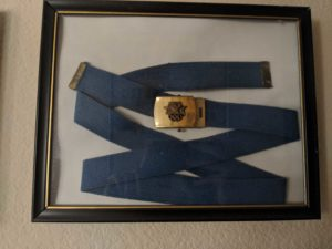 Gwen Carroll's uniform belt for the 1985 Olympics