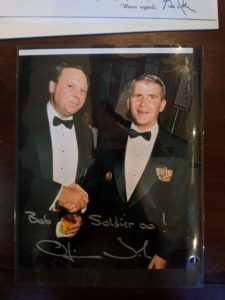 Bob Turner with Lt. Colonel Ollie North