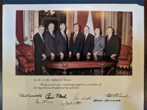 A card to Bob Turner from several Republican senators