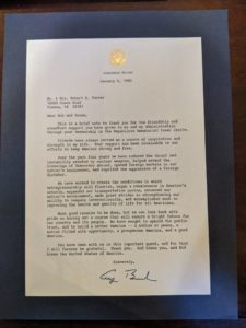 Letter from President George Bush Sr. to Bob Turner