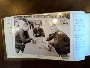Bob Turner playing cards with comrades