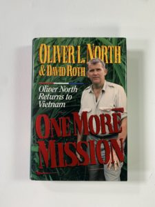 A book by Oliver North that got signed for Harold Culver