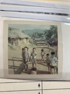 Vietnamese children outside of camp