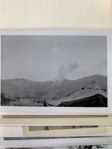 Fire fight on top of a mountain in Vietnam